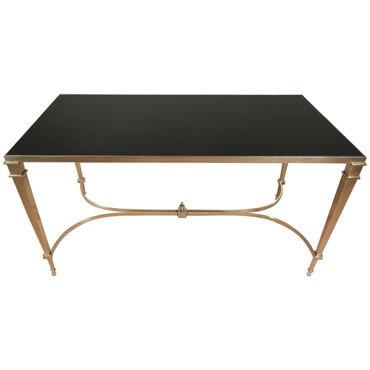 high quality neoclassical brass coffee table at 1stdibs