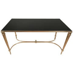 High Quality Neoclassical Brass Coffee Table