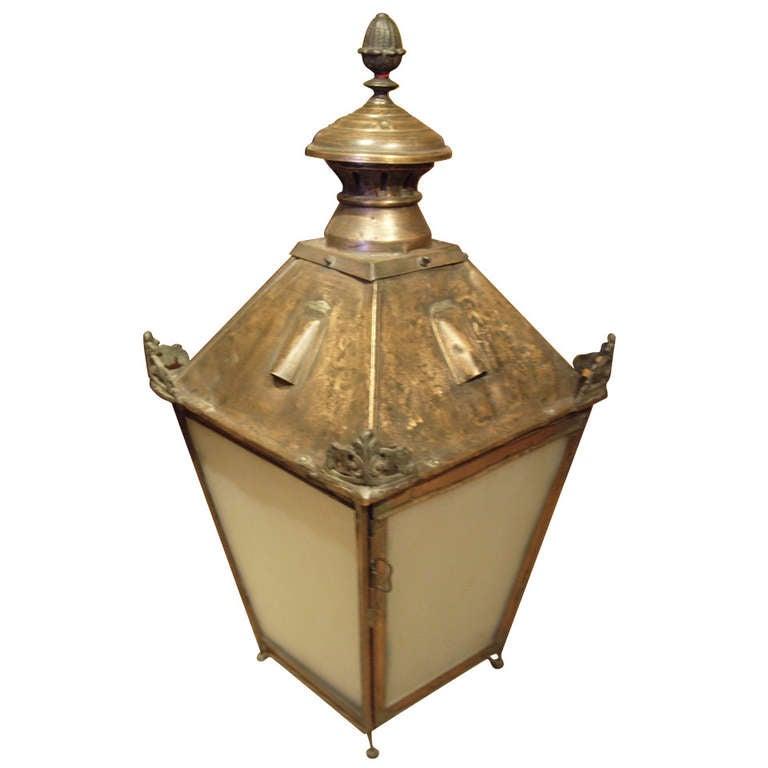 19th C French Copper Lantern At 1stdibs
