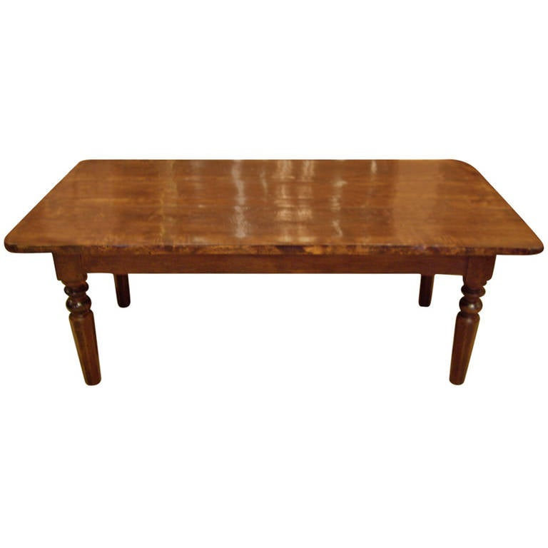 19th Century French Fruitwood Coffee Table At 1stdibs