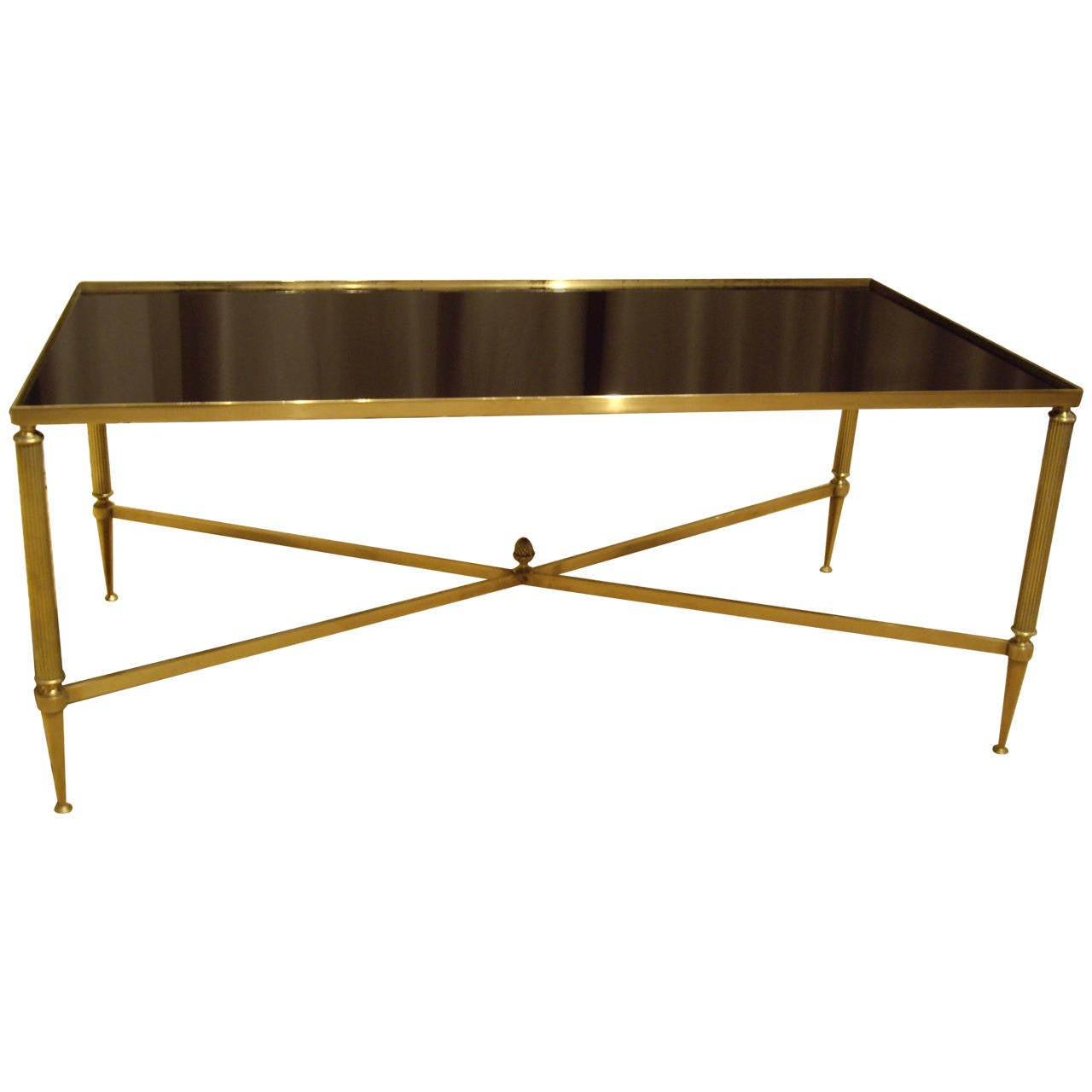 Vintage French Brass And Glass Coffee Table At 1stdibs