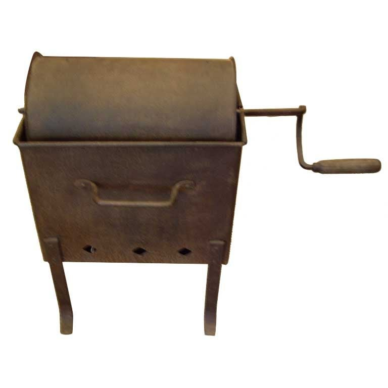 French Iron 19th C Coffee Bean Roaster At 1stdibs