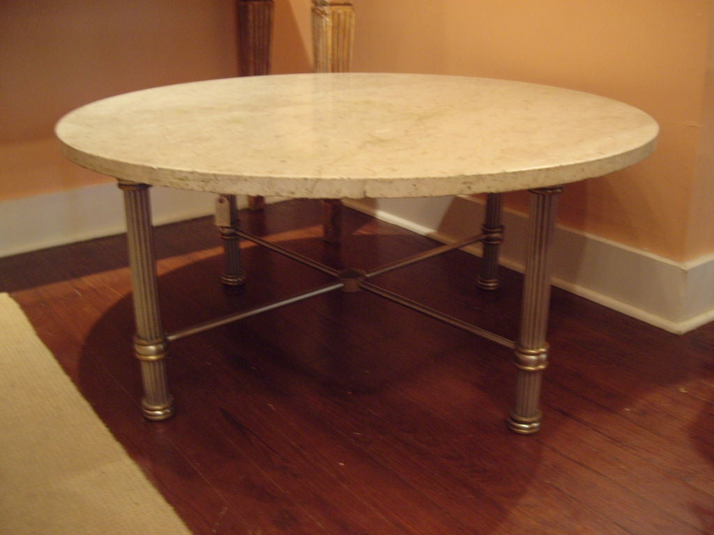 Elegant Vintage Round Coffee Table At 1stdibs