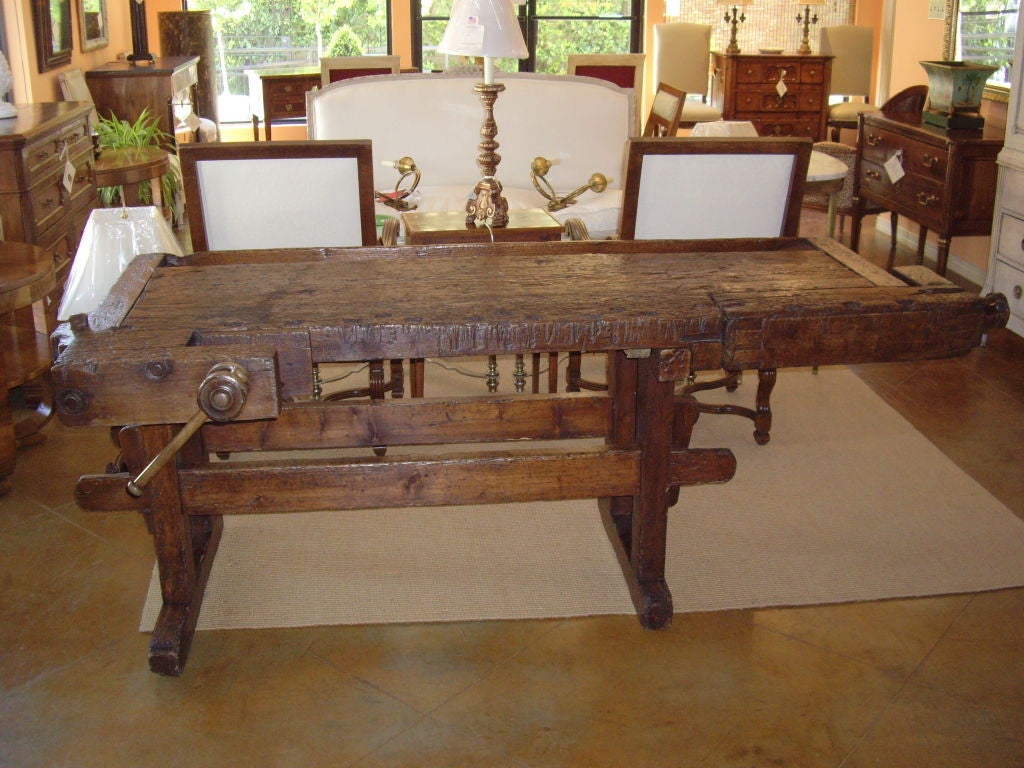 19th C Rustic Italian Workbench At 1stdibs