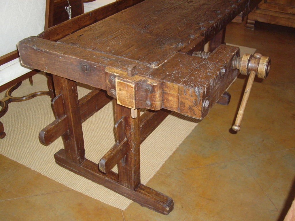 19th C Rustic Italian Workbench For Sale At 1stdibs