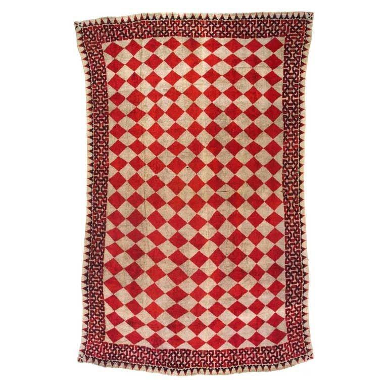 Vintage American Rag Rug At 1stdibs
