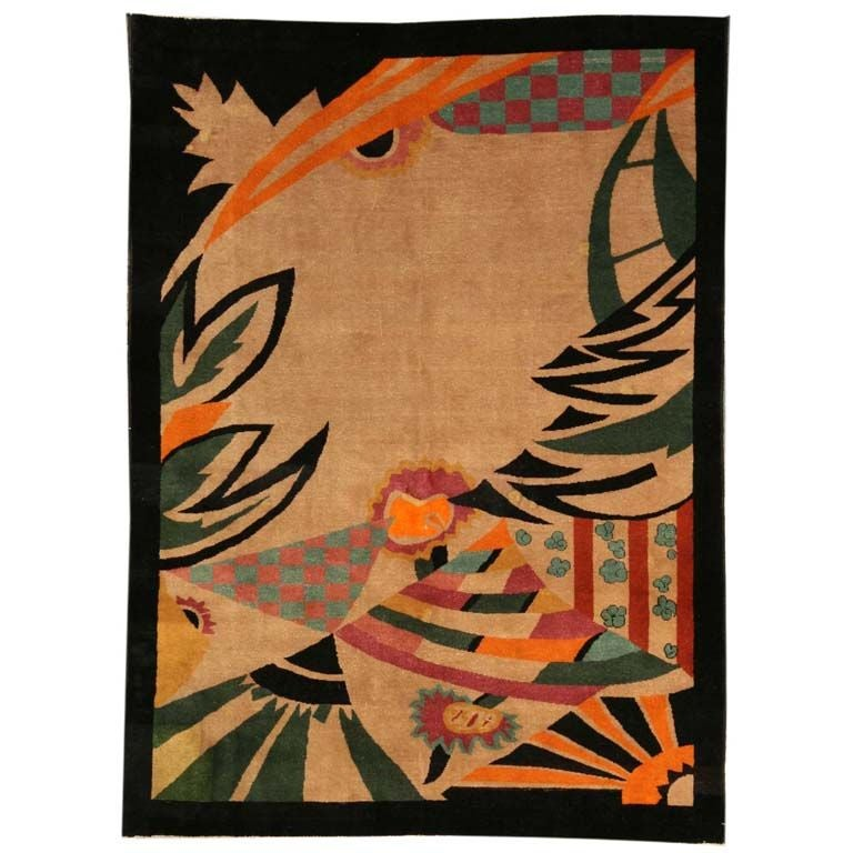 Chinese Art Deco Area Rug At 1stdibs