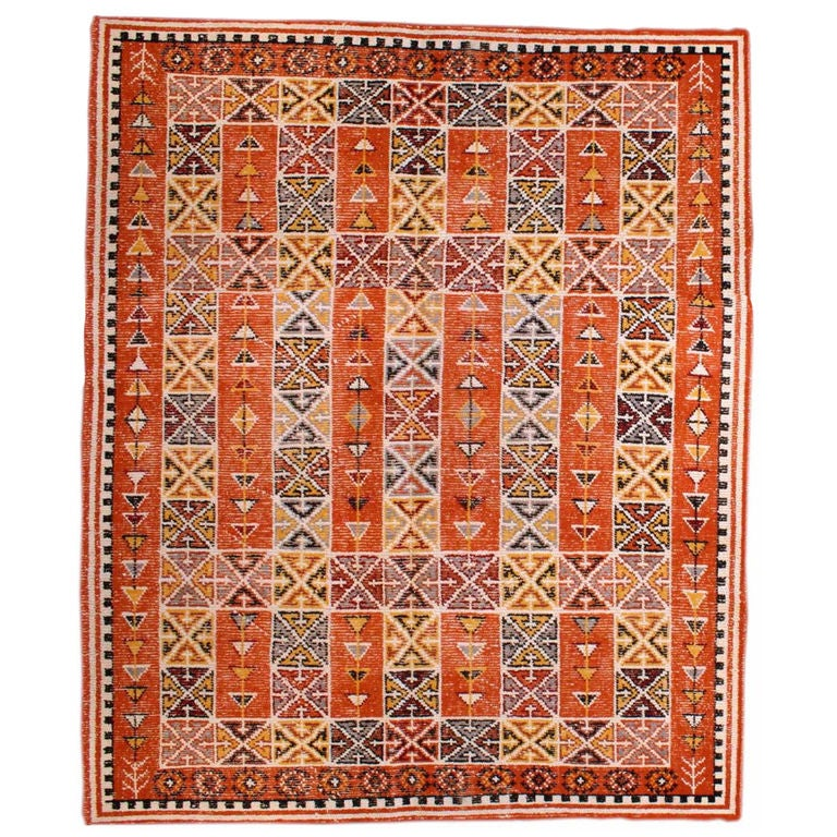 Vintage Moroccan Area Rug Size 8 X 10 At 1stdibs