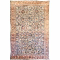 Antique Persian Sultanabad Area Rug