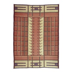 Swedish Flat Woven Area Rug C1900 Design Tora Hokansson