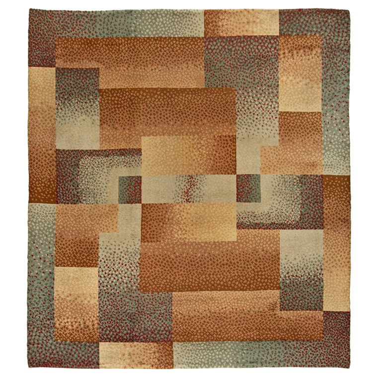 French art deco rug designed by voldemar boberman at 1stdibs for Deco rugs carpet
