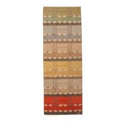 Vintage Swedish Flat Weave Runner Design Ingegerd Silow