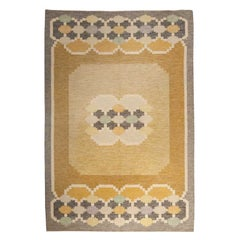 Midcentury Swedish Rug by Ingegerd Silow