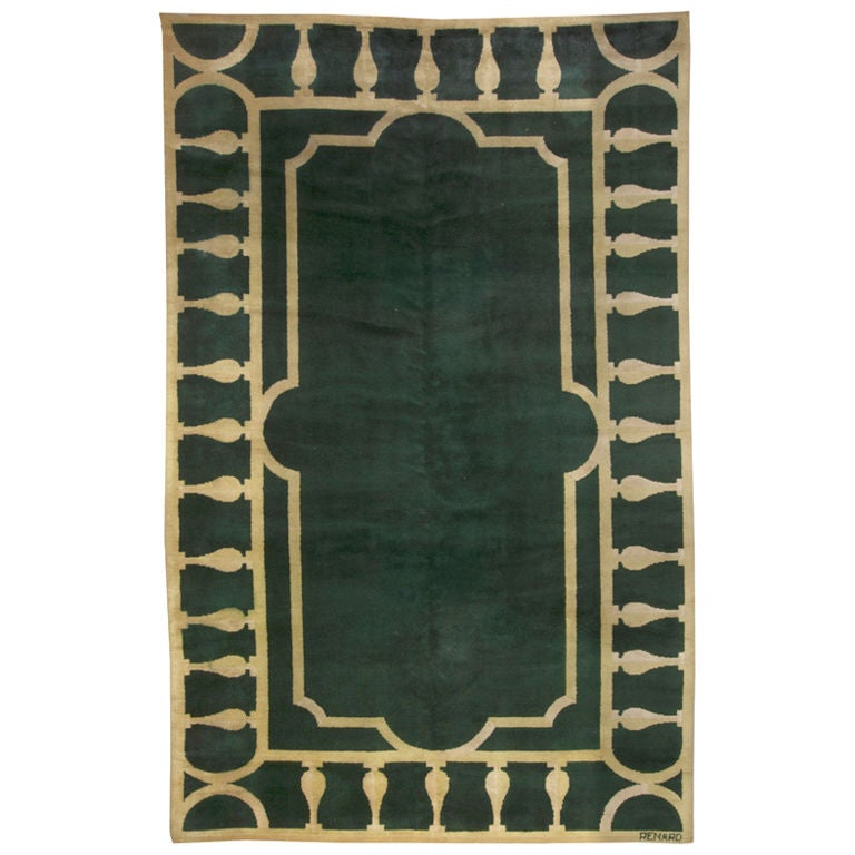 A French art Deco Rug Design Renard