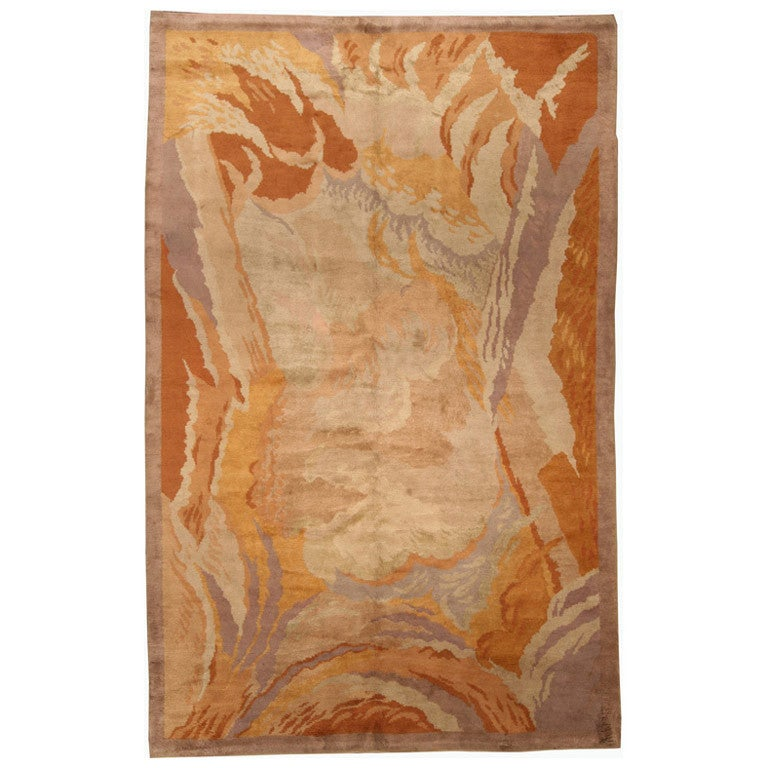 Art Deco Area Rug Designed By Renee Kinsbourg For Sale