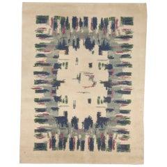 Vintage Art Deco Rug Designed by Paule Leleu