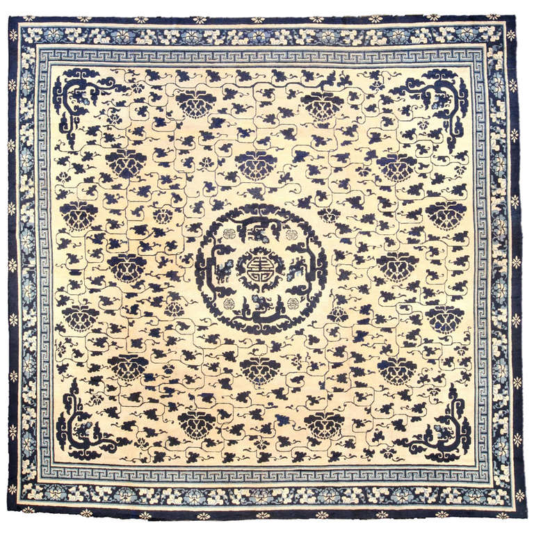 Antique Chinese Rug: Chinese Antique Rug At 1stdibs