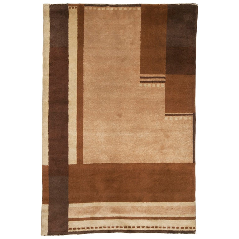 Vintage european art deco rug at 1stdibs for Deco rugs carpet