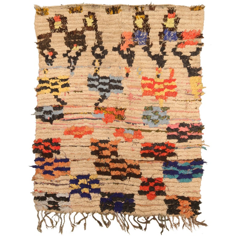 Vintage Moroccan Area Rug At 1stdibs