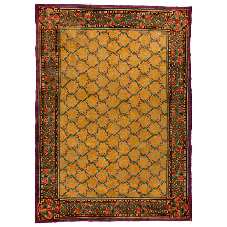 Art Deco Rug Designed By Jules Coudyser For Sale At 1stdibs