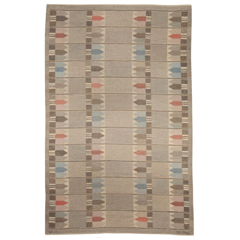 A VIntage Swedish Rug designed by Kerstin Butler 1