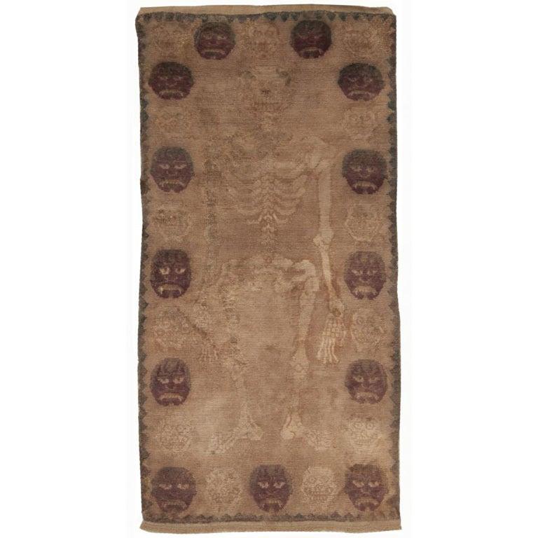 Antique Tibetan Rug: Antique Skeleton Tibetan Rug At 1stdibs
