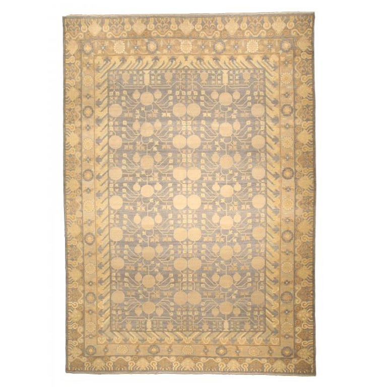 A Classic 21th Century Samarkand Rug At 1stdibs