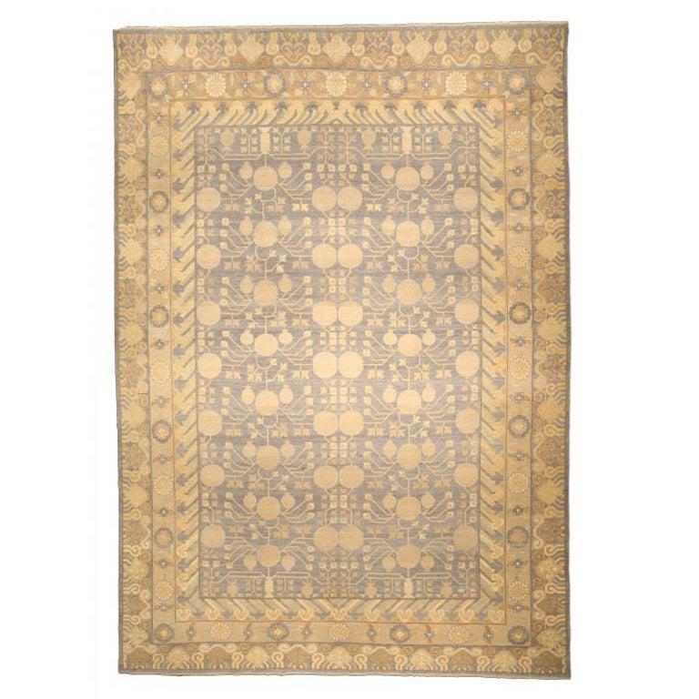 A Classic 21th Century Samarkand Rug At 1stdibs