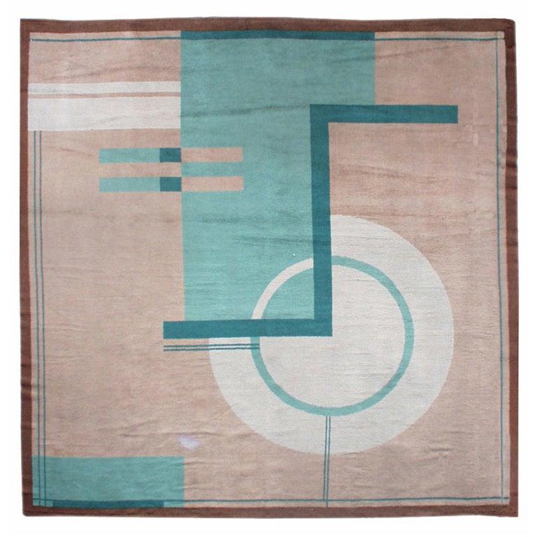 Vintage art deco rug at 1stdibs for Deco rugs carpet