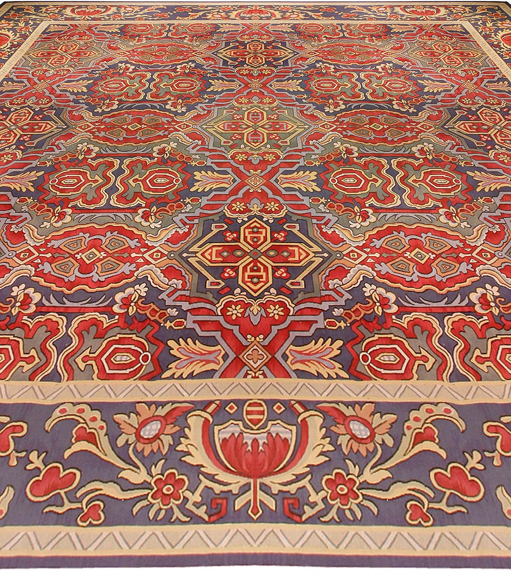 Perfect Vintage French Aubusson Rug 3