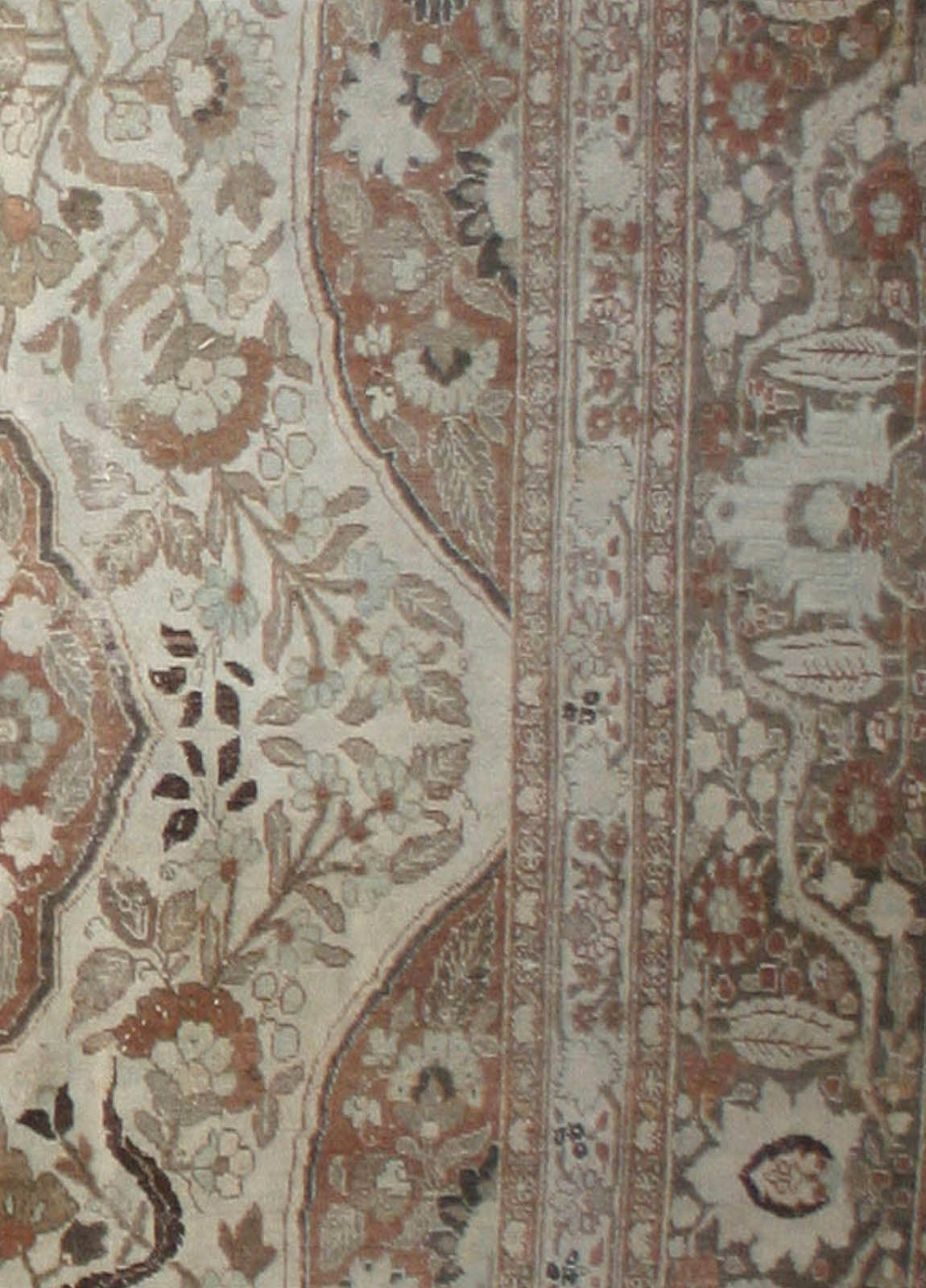 Antique Persian Tabriz Rug 5
