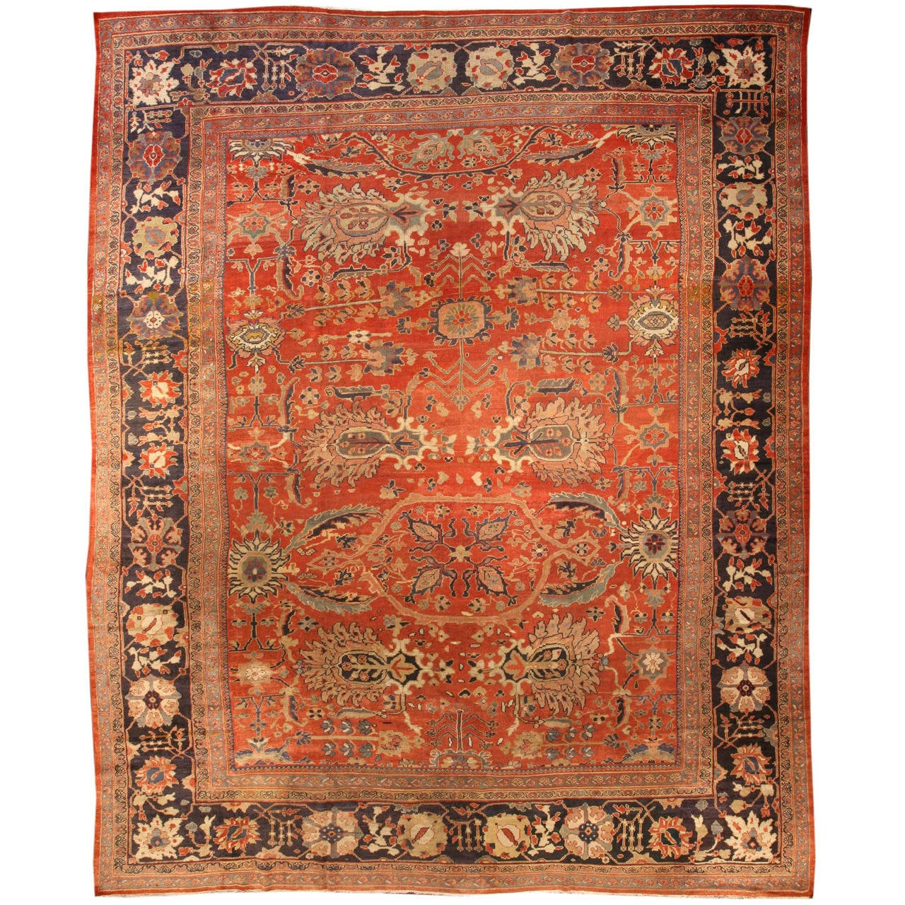 Antique Persian Sultanabad Rug For Sale At 1stdibs