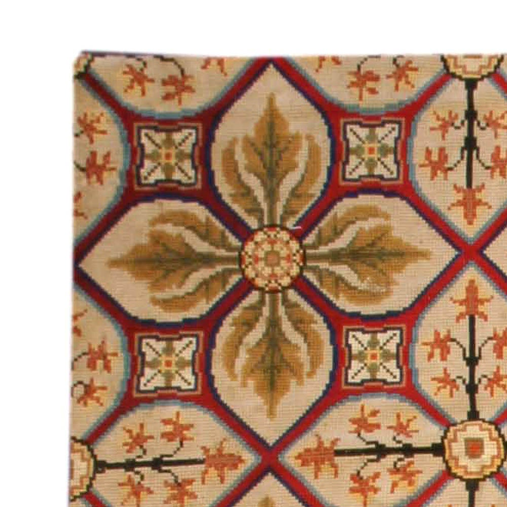 Vintage Portuguese Needlework Rug For Sale At 1stdibs
