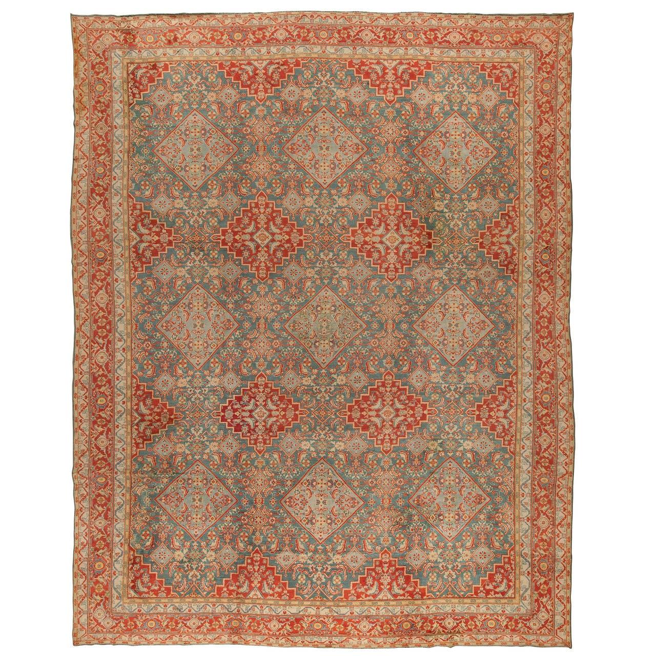 Antique Cotton Indian Agra Rug