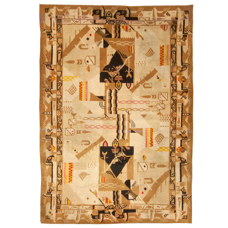 Arts And Crafts Rugs With Exciting Indian Agra Rug Design: Antique Indian Agra Rug At 1stdibs