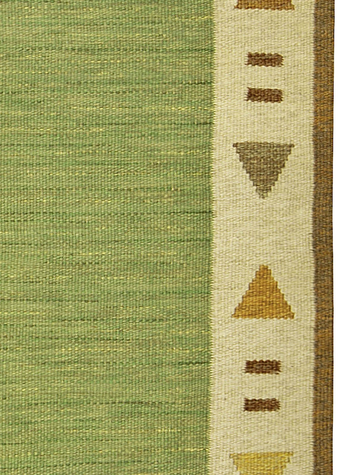 Vintage Swedish Flat-Woven Rug In Excellent Condition For Sale In New York, NY
