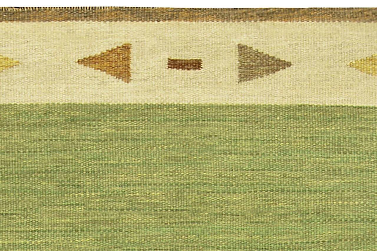 Wool Vintage Swedish Flat-Woven Rug For Sale