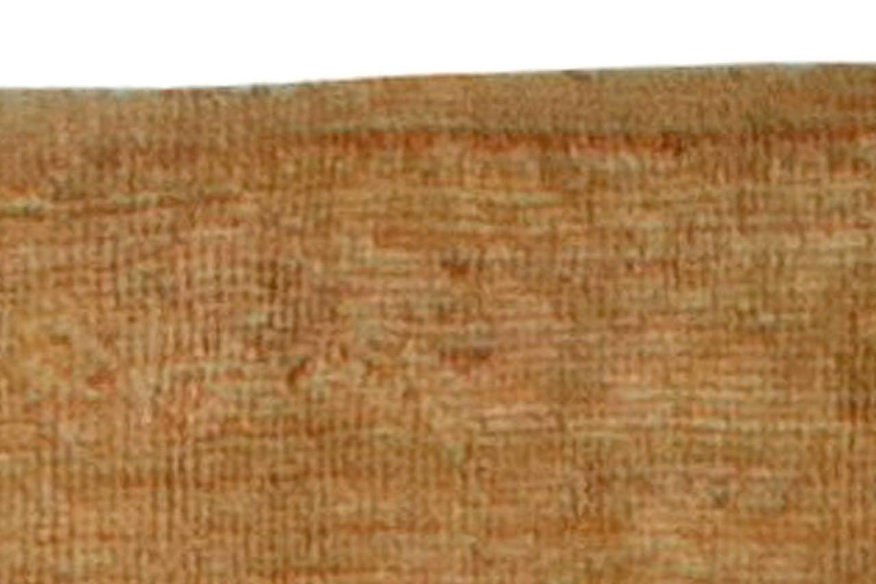 Wool Antique Turkish Oushak Runner Rug For Sale