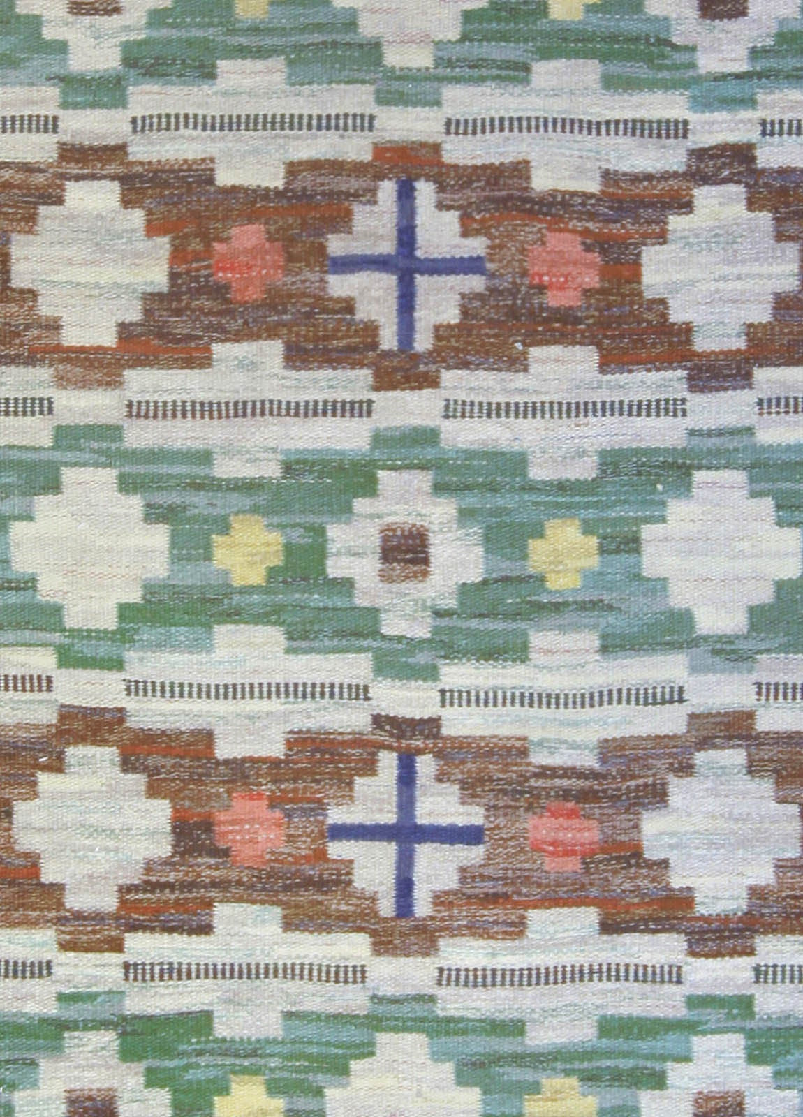 Vintage Swedish Flat Weave Rug 2