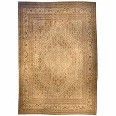 Oversized Antique Persian Tabriz Carpet