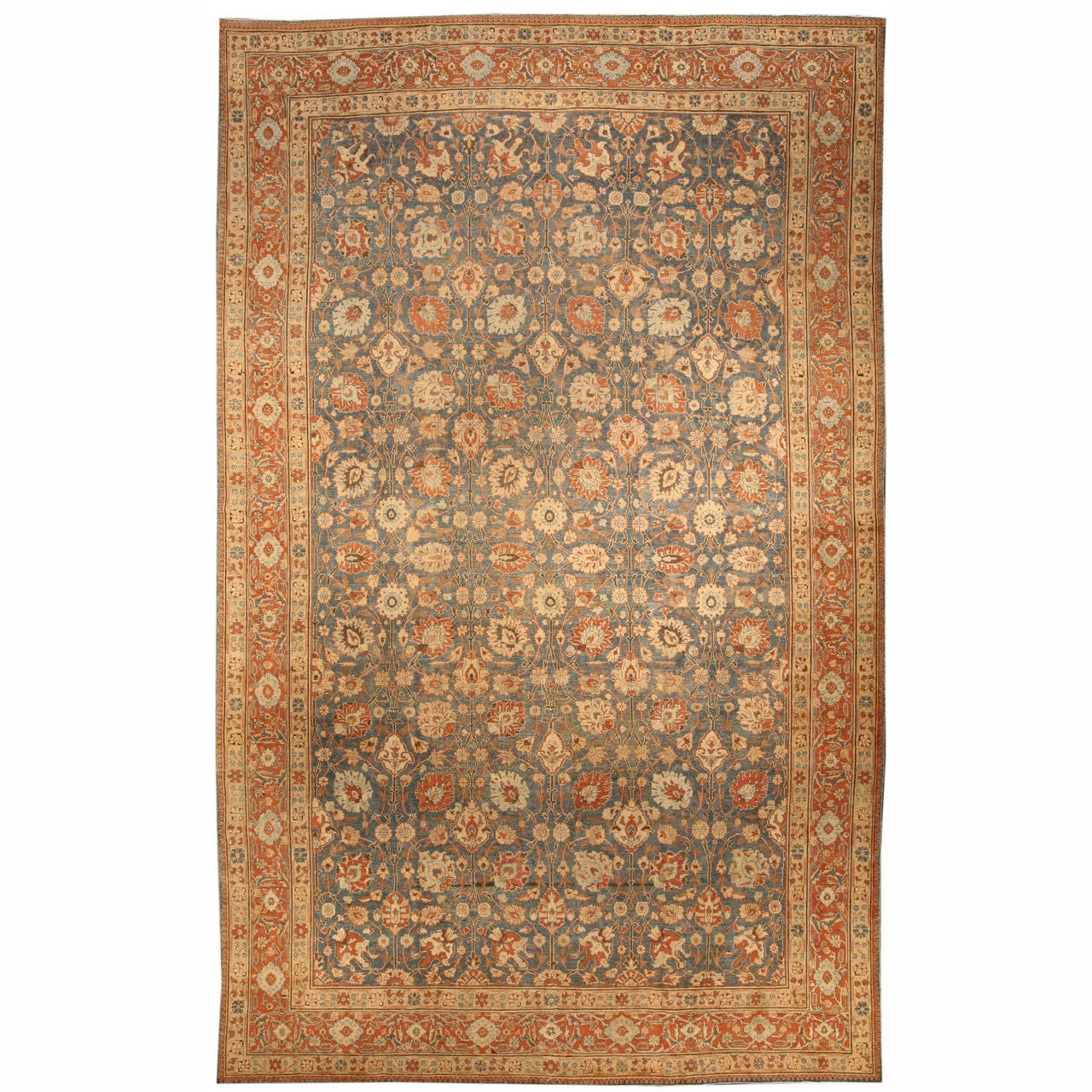 Antique persian tabriz rug for sale at 1stdibs - Deluxe persian living room designs with artistic rug collection ...
