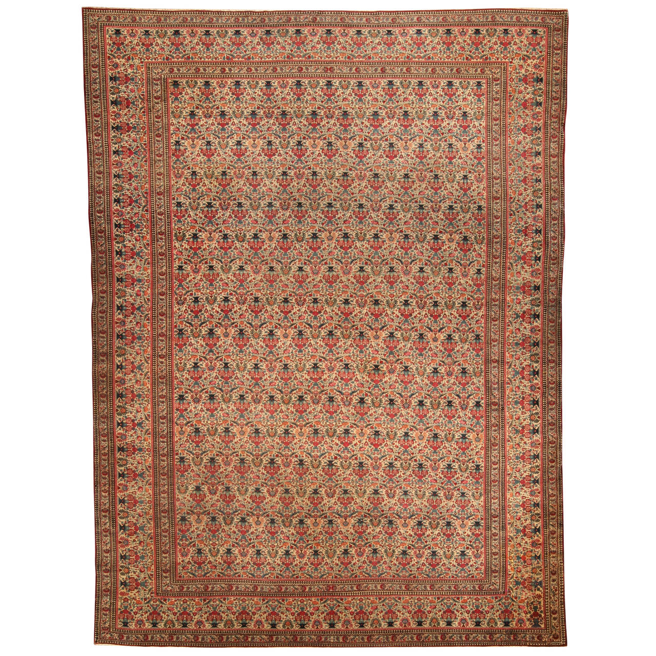 Antique Persian Kirman Rug For Sale At 1stdibs