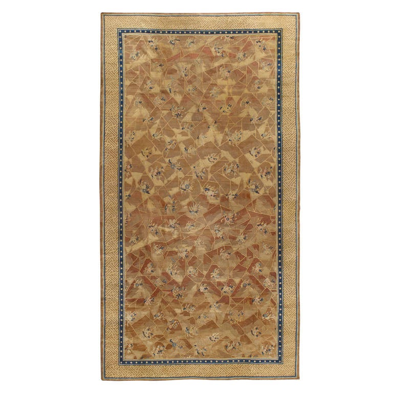 Antique Chinese Rug: Antique Chinese Deco Rug For Sale At 1stdibs