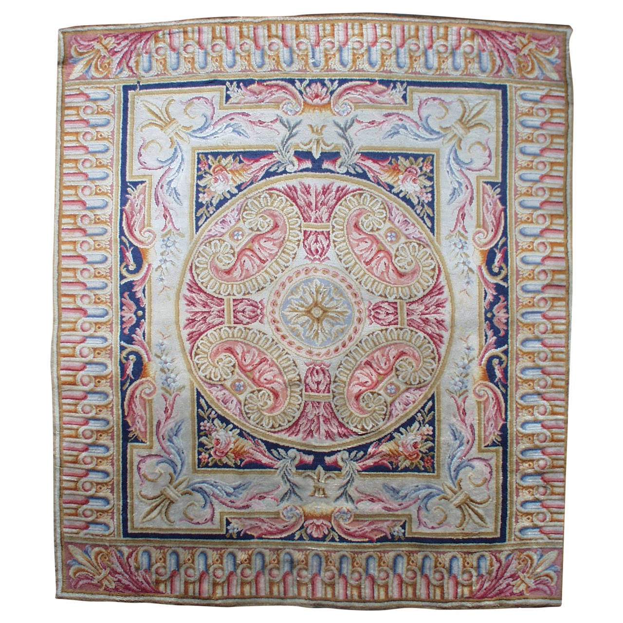 Large Western Rugs: Antique Savonnerie Rug For Sale At 1stdibs