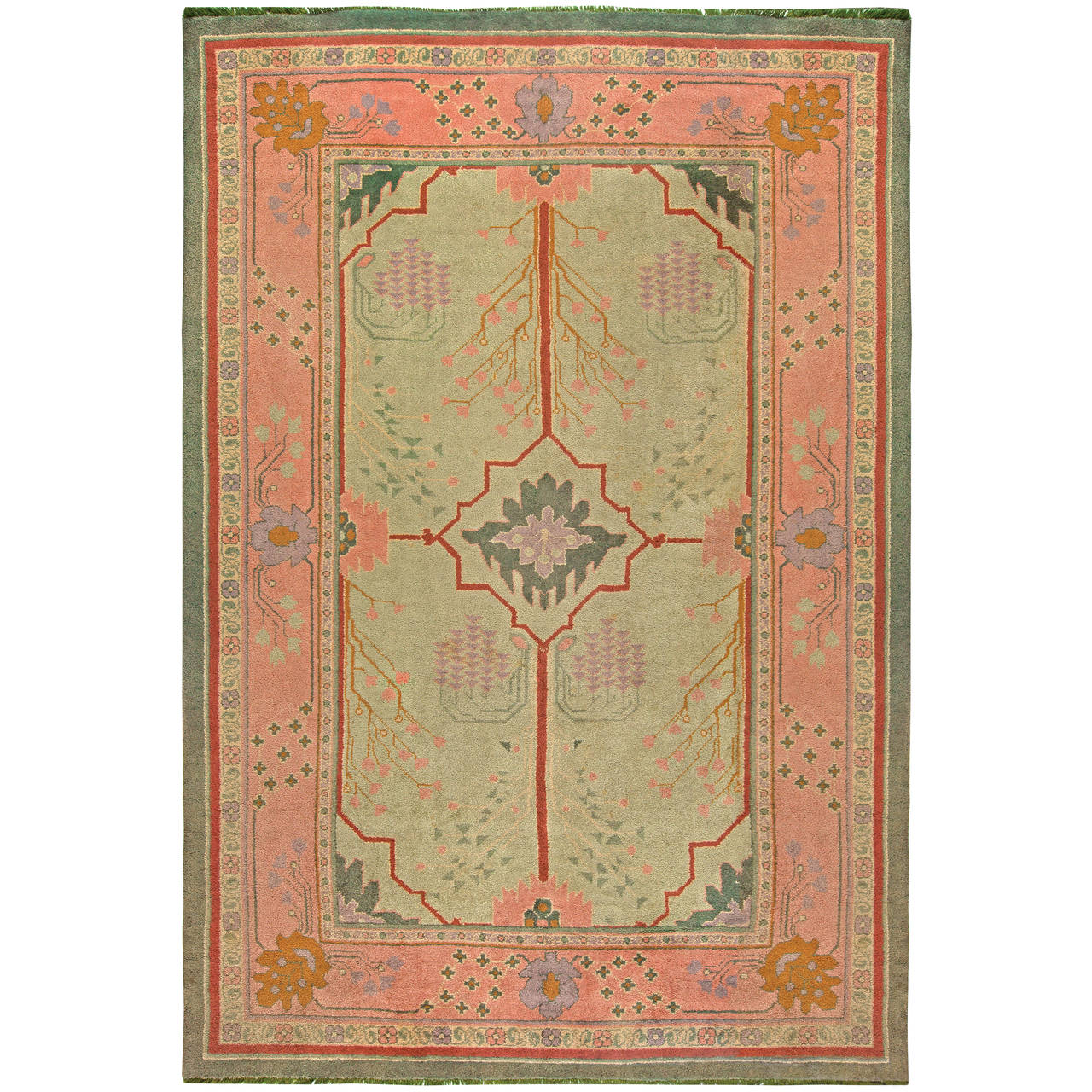 Vintage Arts And Craft Rug At 1stdibs
