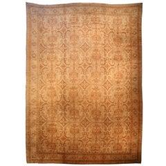 Oversized Vintage Turkish Oushak Carpet