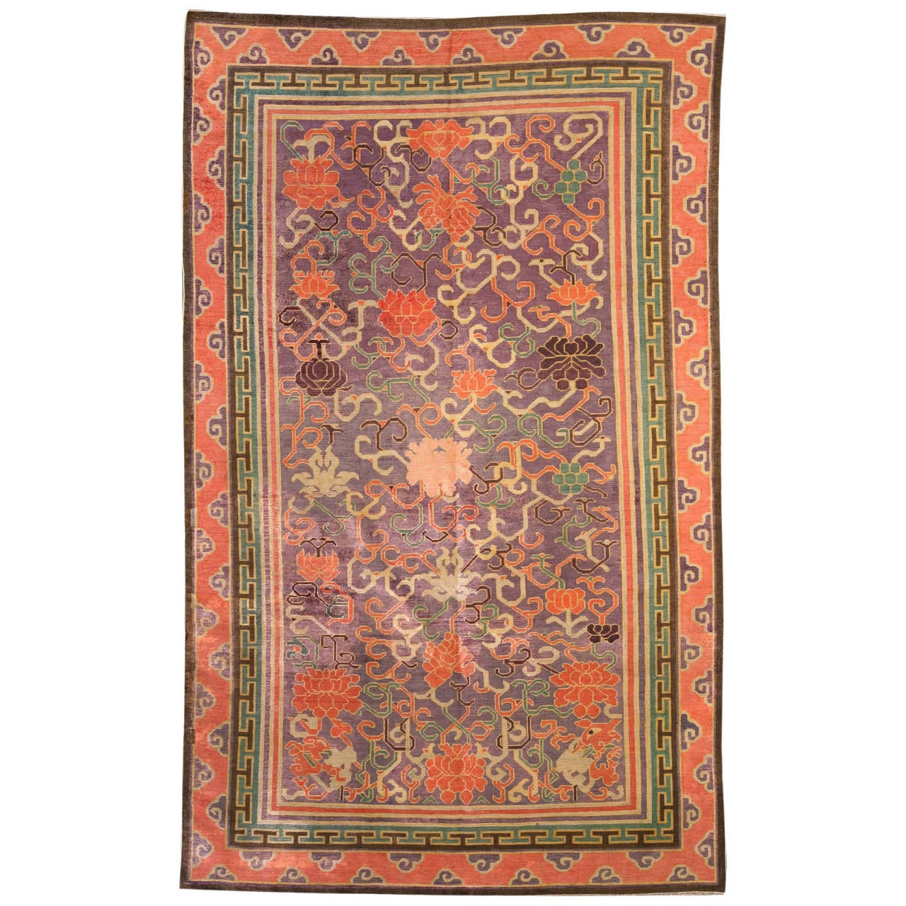 Antique Chinese Rug: Antique Silk Chinese Rug At 1stdibs
