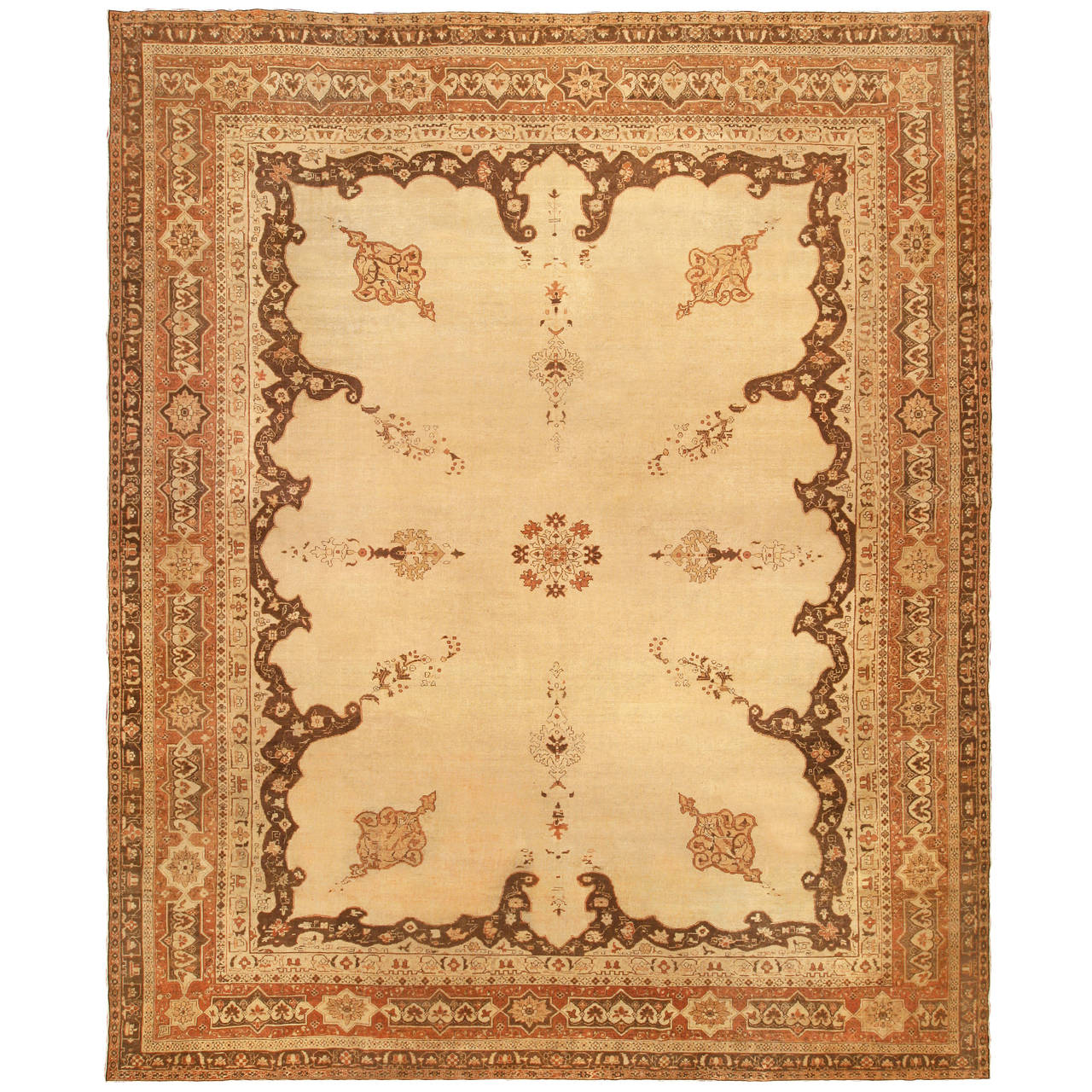 Antique Indian Rugs: Antique Indian Amritsar Rug For Sale At 1stdibs