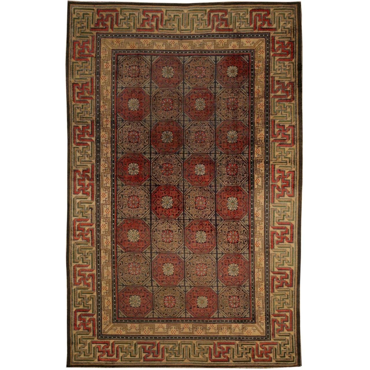 Antique Silk Chinese Rug