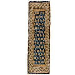 Antique Spanish Flat-Weave Runner Rug